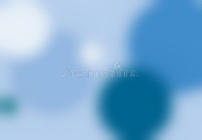Fond bleu de tache floue de points illustration de vecteur