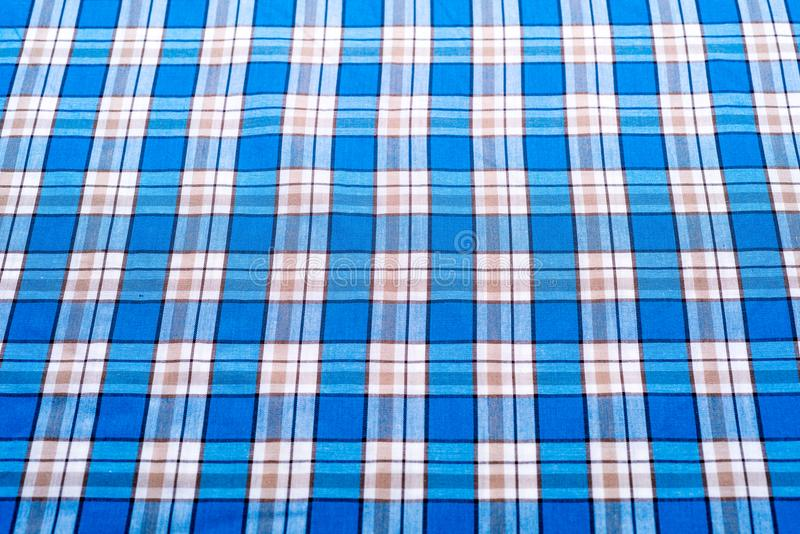 Fond bleu de tartan ou de plaid pour la conception de mode illustration de vecteur