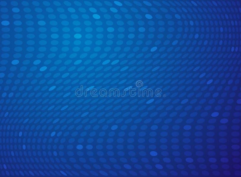 Fond bleu de technologie de maille de point de gradient de résumé illustration stock