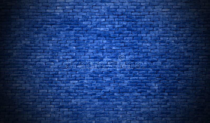 Fond bleu de texture de mur de briques image libre de droits