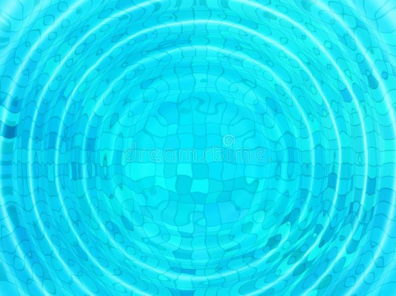 Fond bleu de tuile avec les ondulations concentriques de l'eau illustration de vecteur