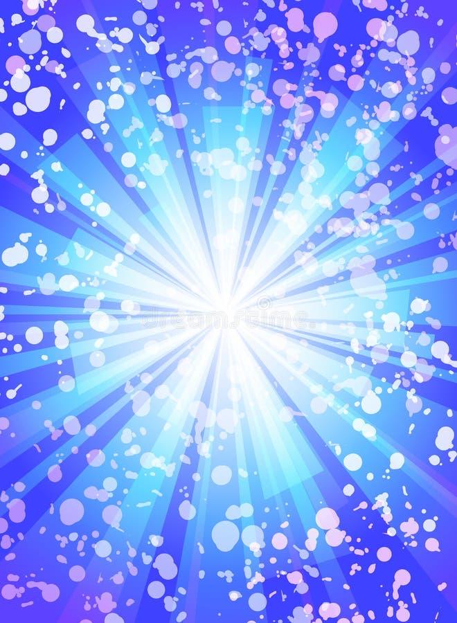 Fond bleu de vecteur du soleil et d'instantané illustration de vecteur