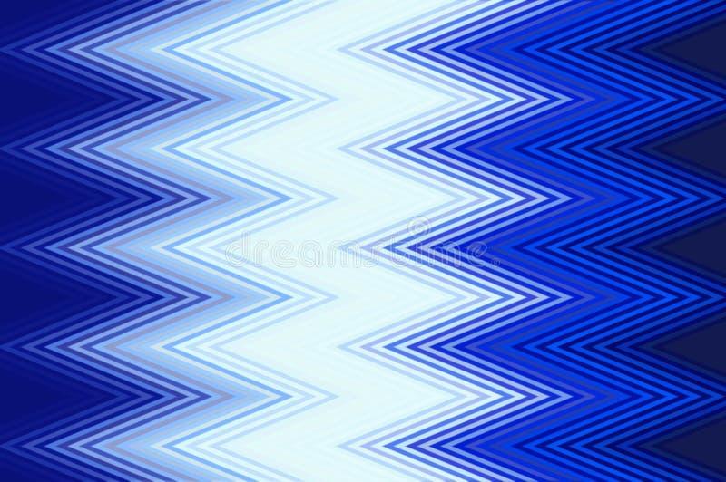 Fond bleu de zigzag illustration libre de droits