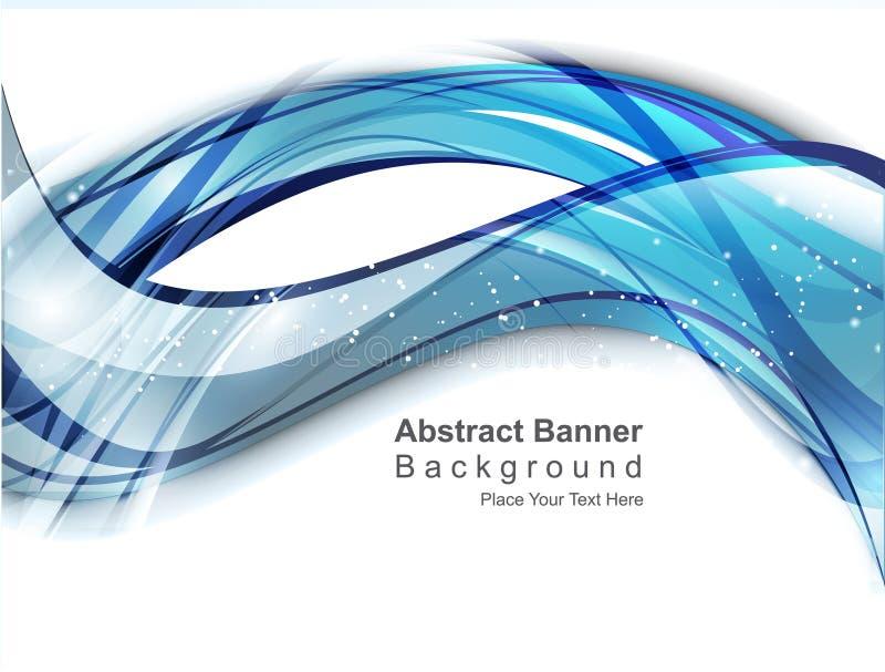 Fond bleu digital abstrait d'onde illustration libre de droits