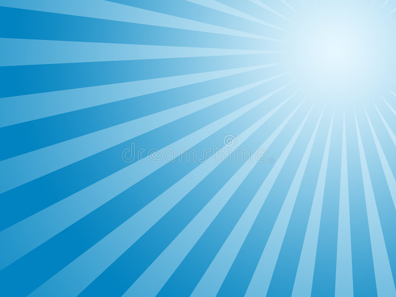 Fond bleu du soleil illustration libre de droits