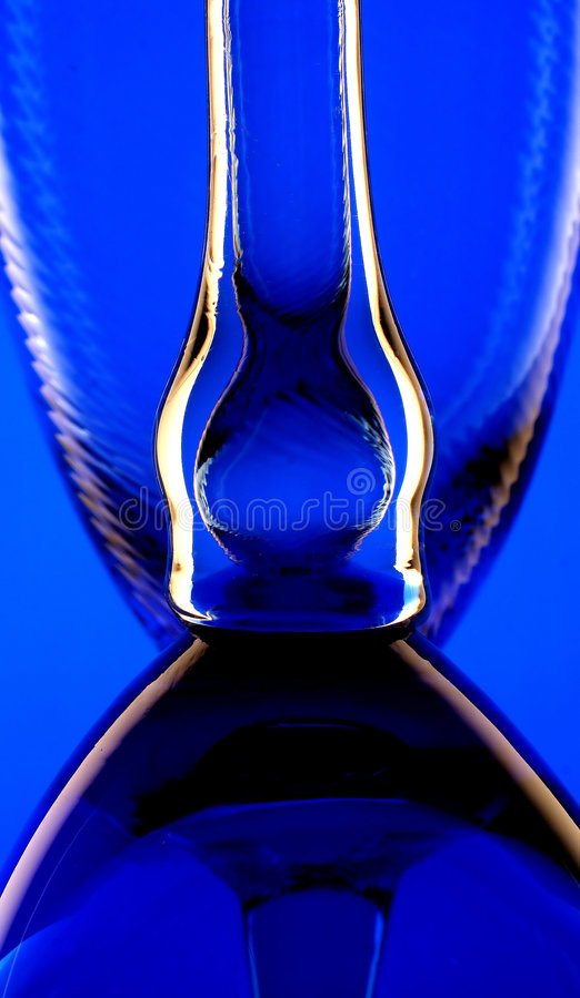 Fond bleu en verre image stock