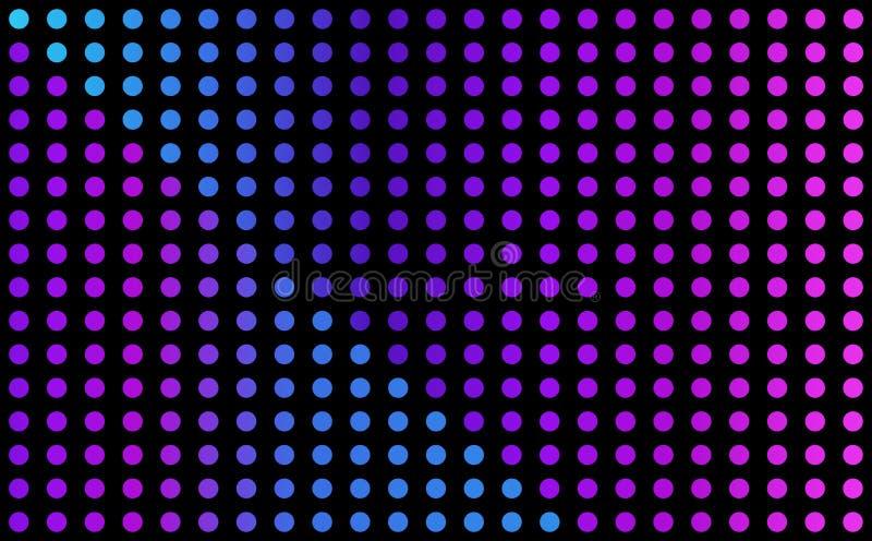 Fond bleu et pourpre de vecteur - grille des points rougeoyants illustration de vecteur