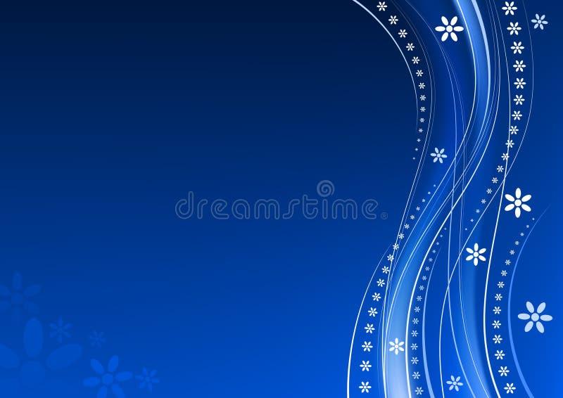 Fond bleu floral illustration stock