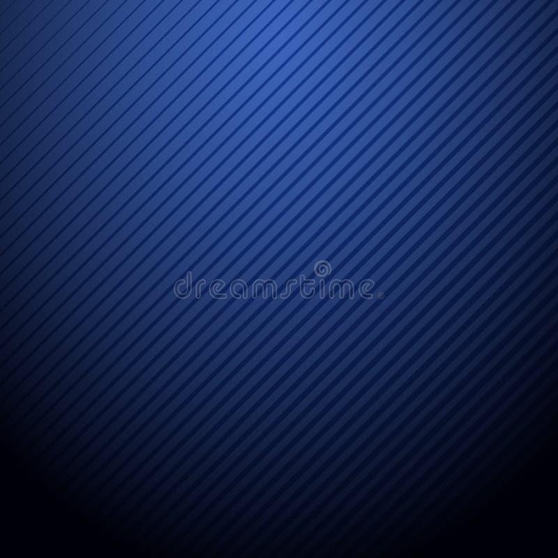Fond bleu-foncé d'abrégé sur vecteur avec le modèle de rayure illustration de vecteur