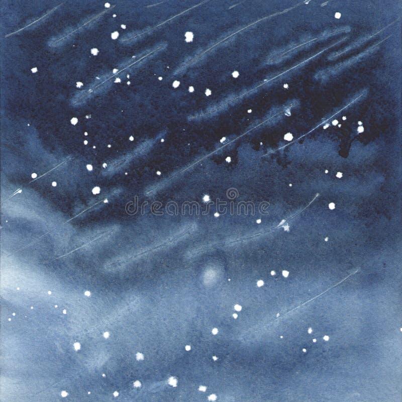Fond bleu-foncé d'aquarelle photo libre de droits