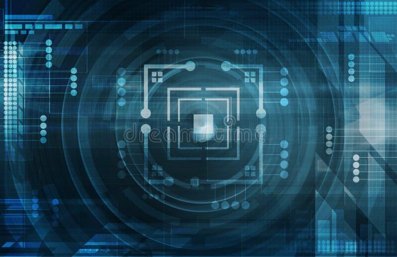 Fond bleu-foncé de technologie illustration libre de droits