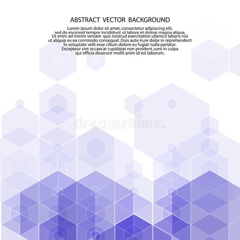 fond bleu-foncé des hexagones Style polygonal Illustration de vecteur ENV 10 illustration de vecteur