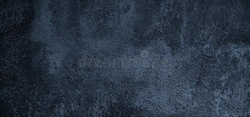 Fond bleu-foncé grunge abstrait panoramique avec l'espace de copie images libres de droits