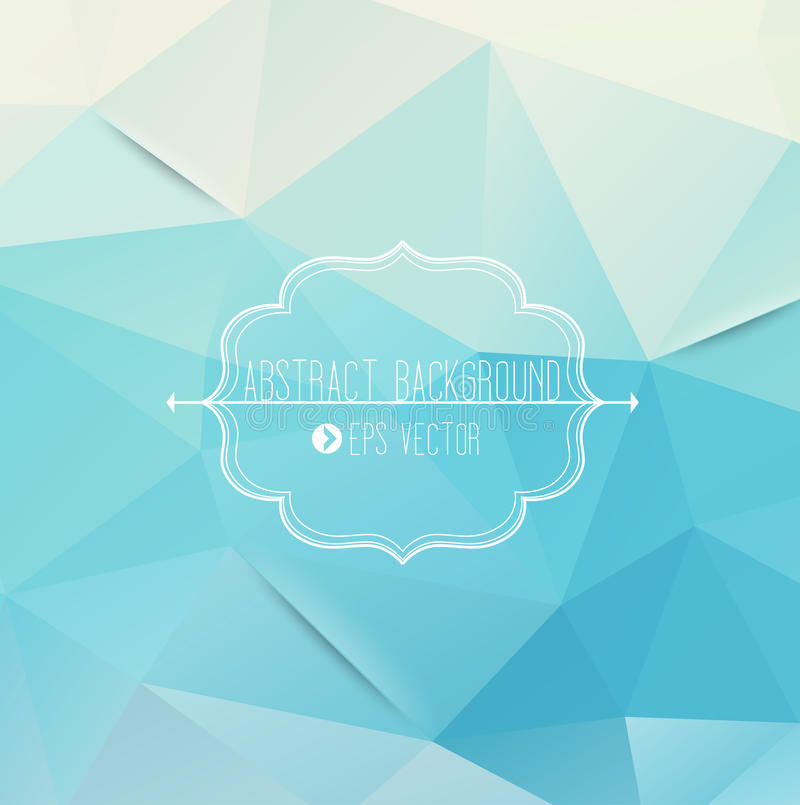 Fond bleu géométrique abstrait illustration de vecteur