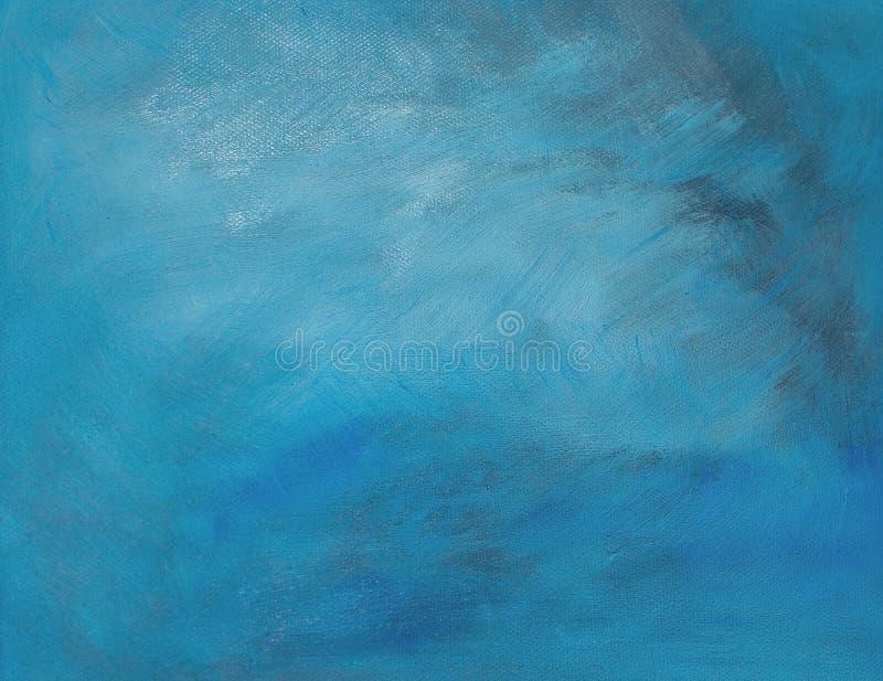 Fond bleu/gris de peinture à l'huile photo libre de droits