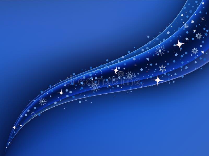 Fond bleu lumineux de Noël illustration libre de droits