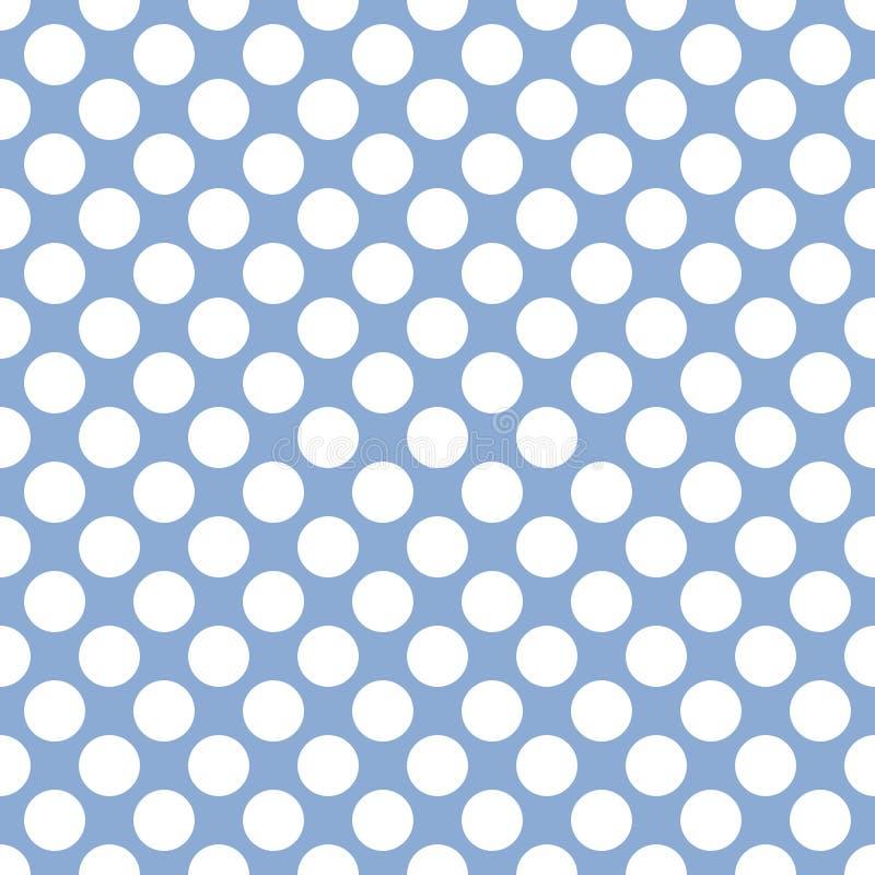Fond bleu mou sans couture de texture de modèle de points de polka illustration libre de droits