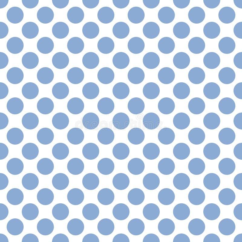 Fond bleu mou sans couture de texture de modèle de points de polka illustration de vecteur