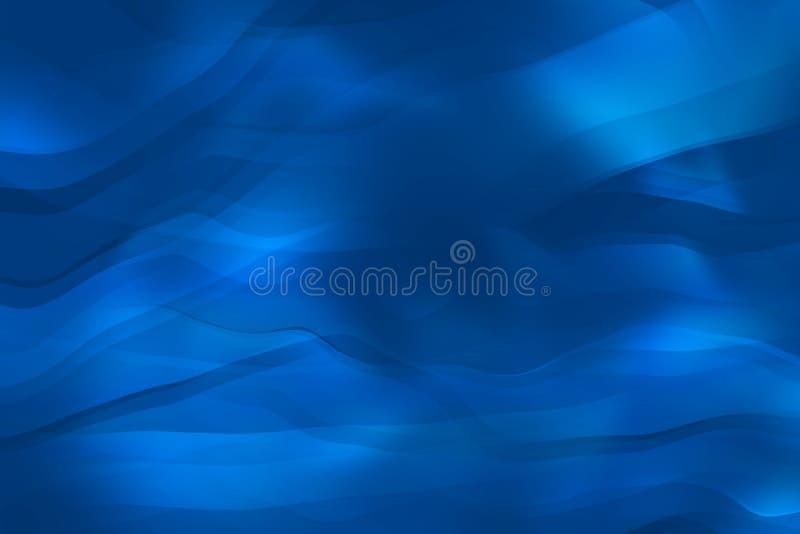 Fond bleu ondulé illustration stock
