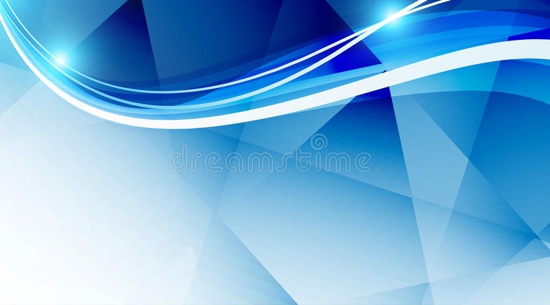 Fond bleu ondulé illustration libre de droits