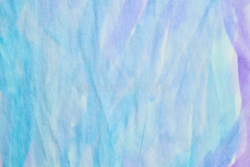 Fond bleu pourpre d'aquarelle image libre de droits