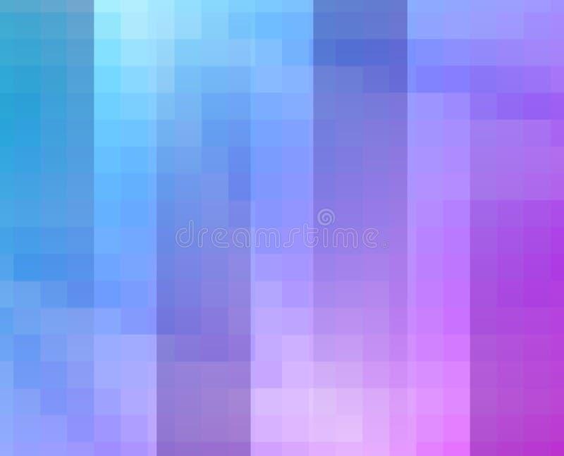 Fond bleu pourpre de mosaïque de grille, calibres créatifs de conception illustration de vecteur