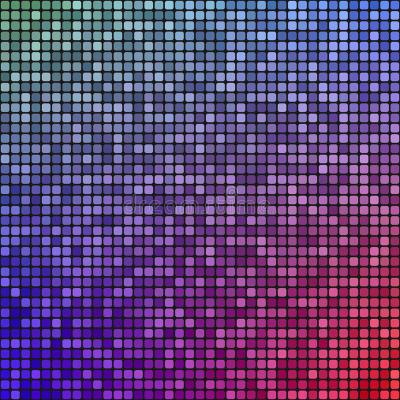 Fond bleu rouge de conception de mosaïque de pixel illustration de vecteur