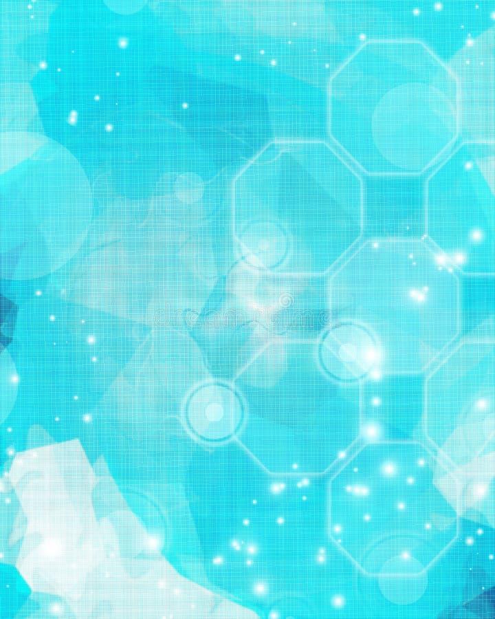 Fond bleu rougeoyant illustration de vecteur