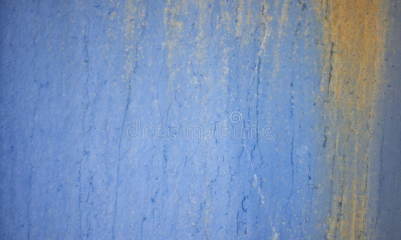 Fond bleu rouill? de texture de mur en m?tal photos stock