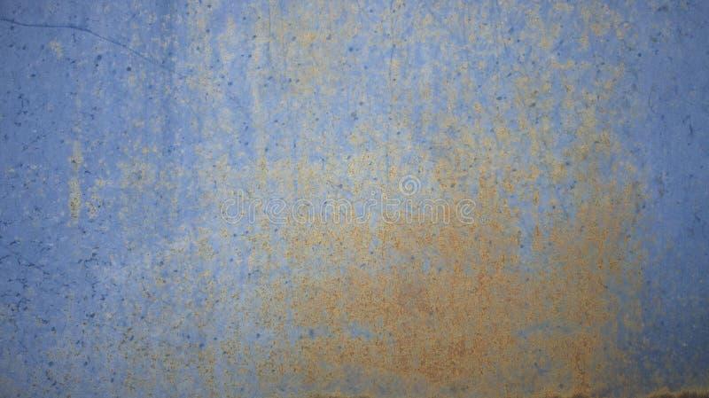 Fond bleu rouill? de texture de mur en m?tal image libre de droits