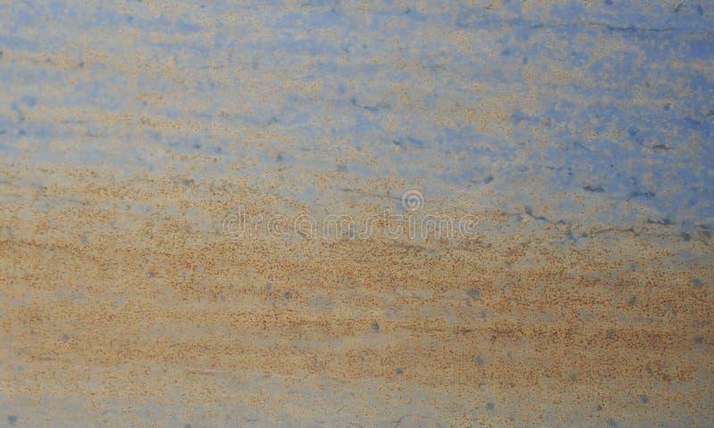 Fond bleu rouill? de texture de mur en m?tal images stock