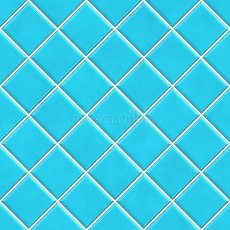Fond bleu sans joint de texture de tuiles illustration de vecteur
