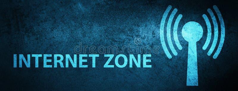 Fond bleu spécial de bannière de zone d'Internet (réseau wlan) illustration de vecteur