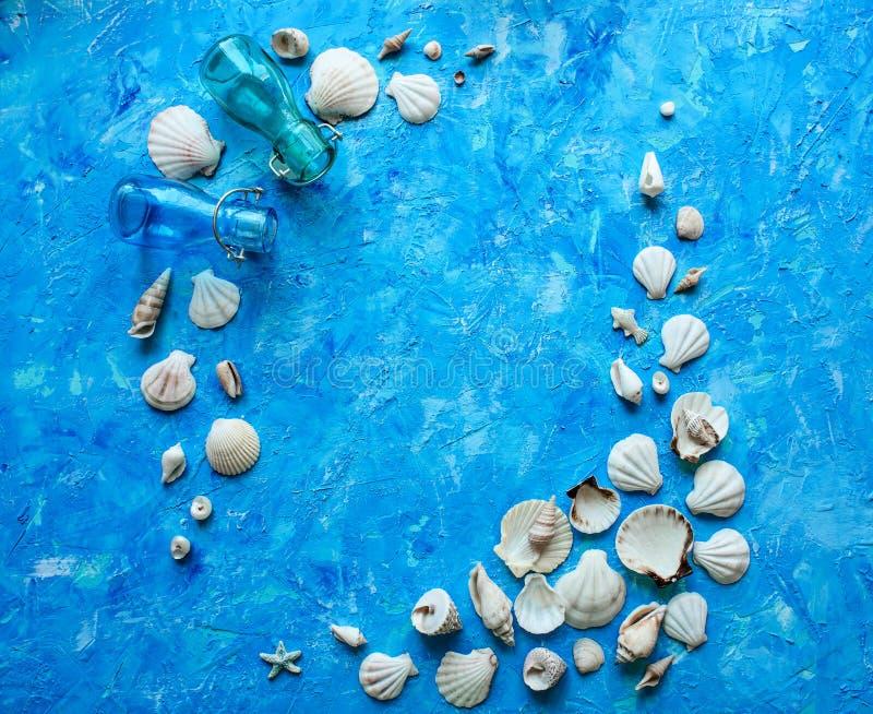 Fond bleu texturisé image stock