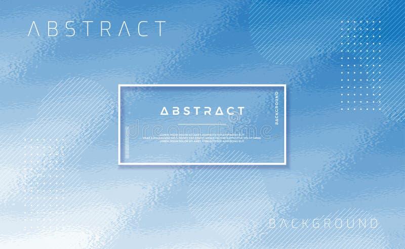Fond bleu texturisé avec la forme abstraite Fond à la mode avec la composition à la mode en couleur de gradient Illustration du v illustration libre de droits