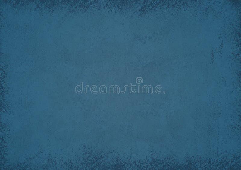Fond bleu texturisé grunge Beau fond abstrait illustration stock
