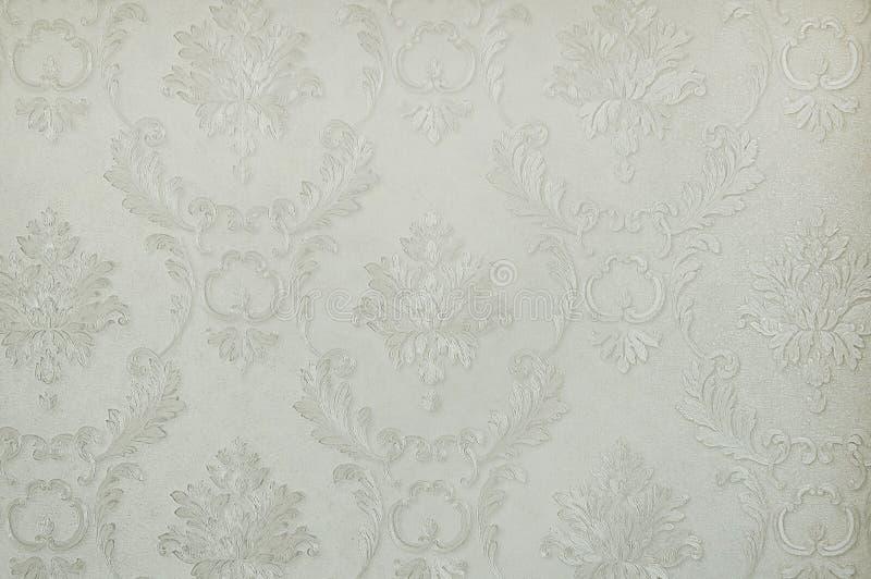 Fond botanique gris de papier peint photo stock