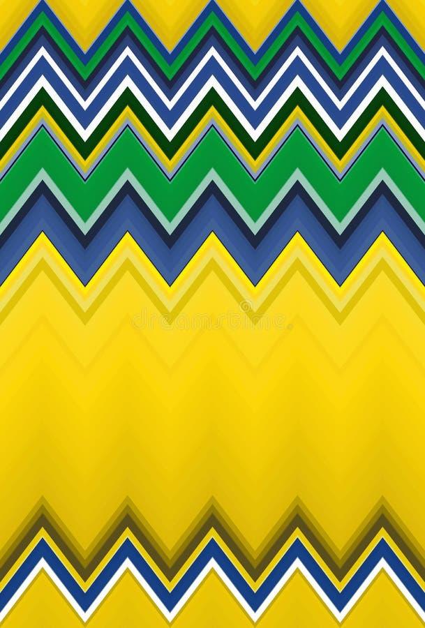 Fond brésilien du Brésil de modèle de chevron bleu illustration de vecteur