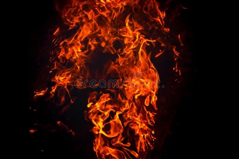 Fond brûlant de flamme d'incendie photos stock