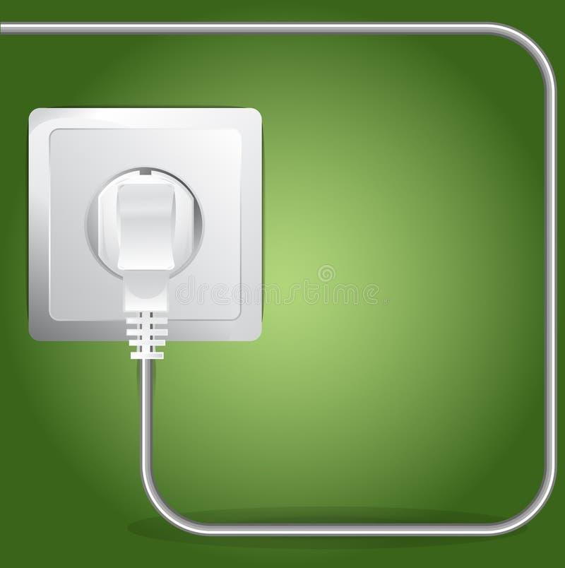 Fond branché par vecteur de câble électrique illustration de vecteur