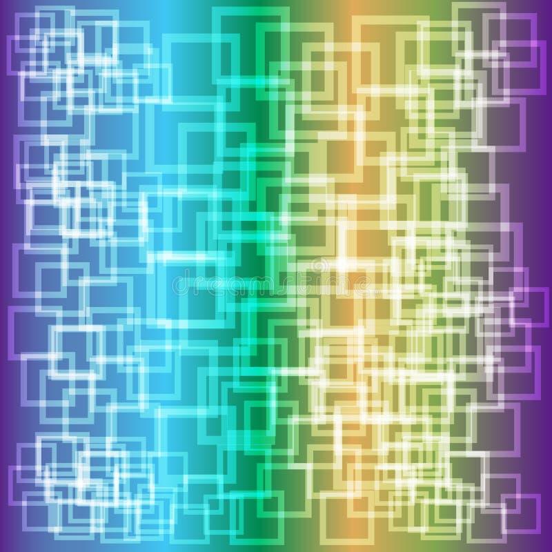 Fond brillant abstrait avec les places transparentes illustration stock