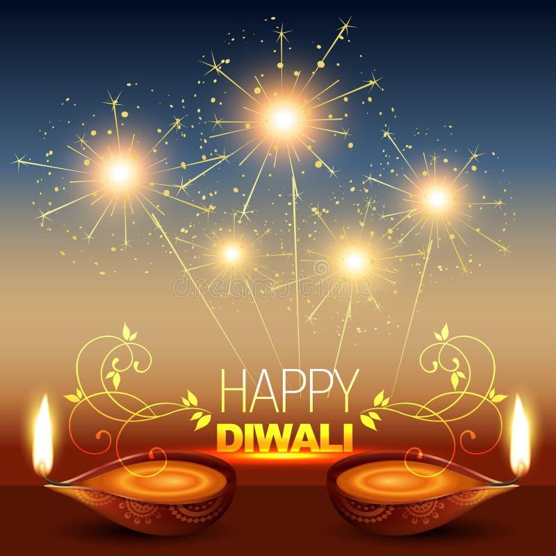 Fond brillant de diwali