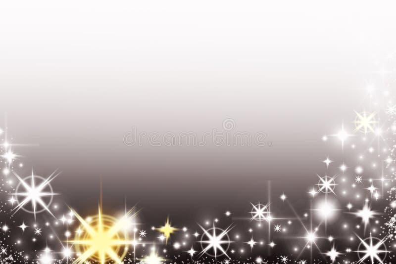 Fond brillant de Noël avec des flocons de neige et endroit pour le texte Fond scintillant de vacances avec l'espace de copie image libre de droits
