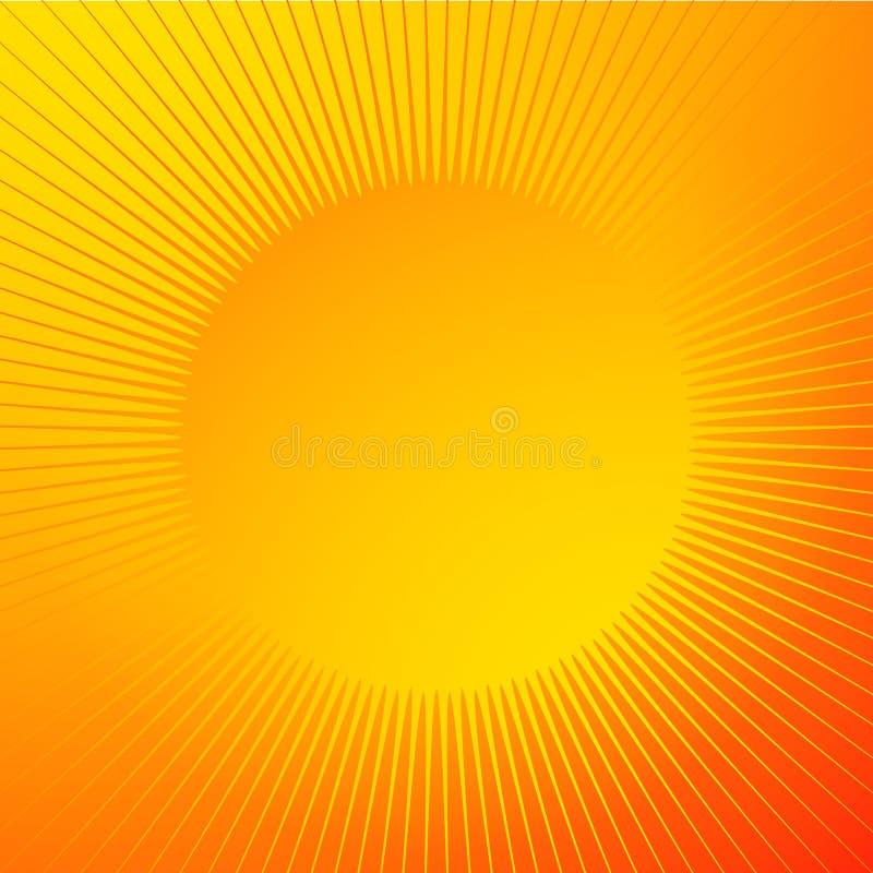 Fond brillant lumineux avec la forme d'étincelle Lignes radiales, starb illustration libre de droits