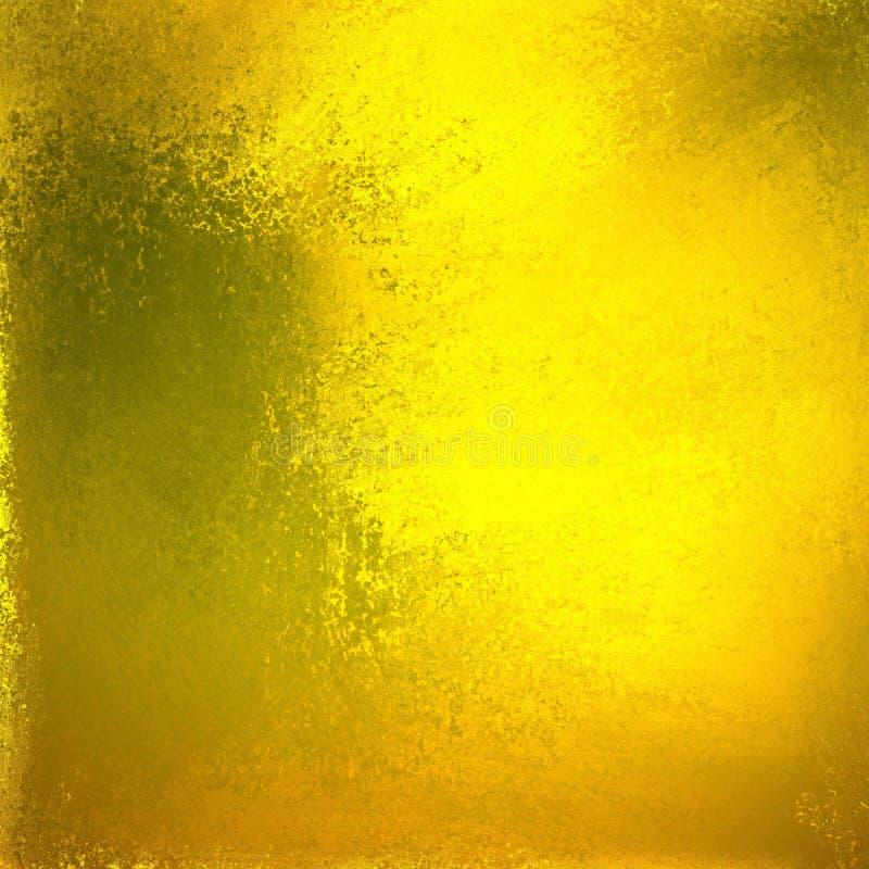 Fond brillant lumineux d'or avec la vieille texture verte et brune rouillée de rouille à la frontière, éclat métallique élégant illustration stock