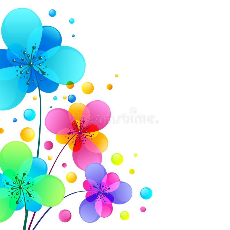 Fond brillant lumineux de vecteur de fleurs illustration de vecteur