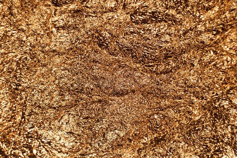 Fond brillant métallique de texture de papier d'emballage de feuille de feuille d'or pour l'élément de décoration de papier peint photographie stock libre de droits