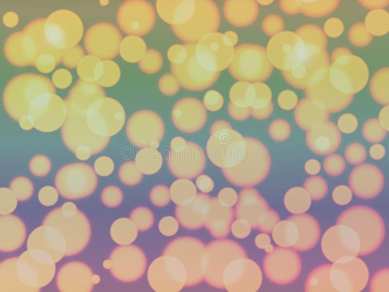 Fond brouillé abstrait clair d'or de modèle de bokeh photos stock