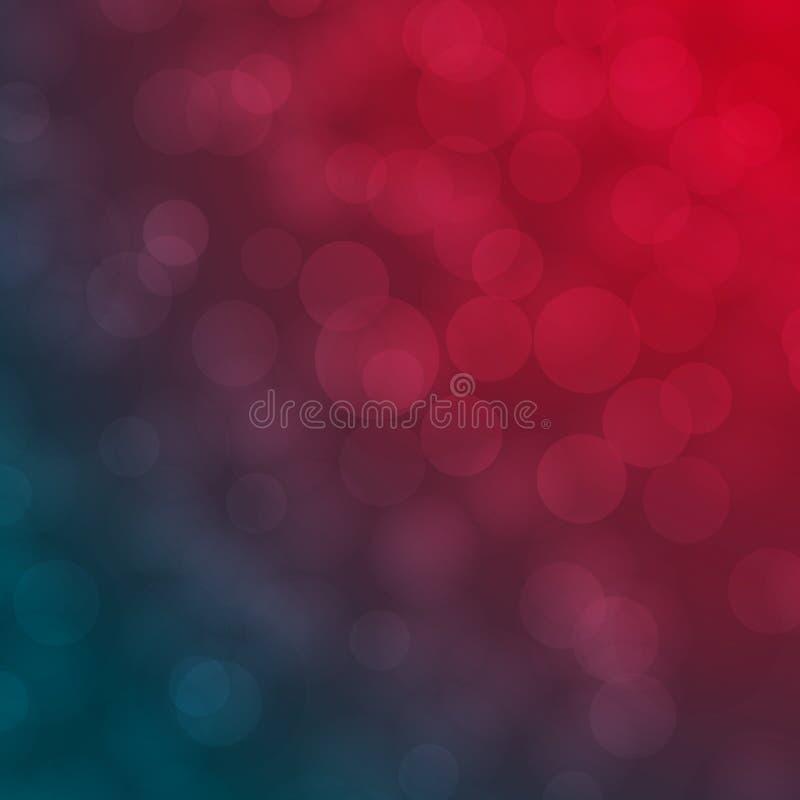 Fond brouillé abstrait rouge et bleu de vecteur de Bokeh illustration libre de droits