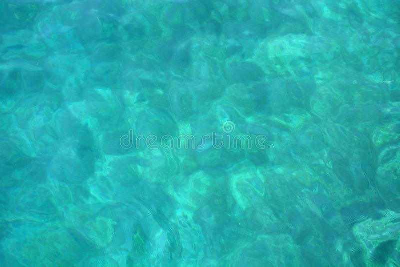 Fond brouillé bleu d'ondulation d'eau de mer dinde de mer ?g?e photographie stock libre de droits